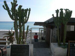 Bordighera. Strandrestaurant Acqua. Urlaub an der italienischen Riviera. Abenteuer mit Folgen. Unser Ferienhaus in Ligurien