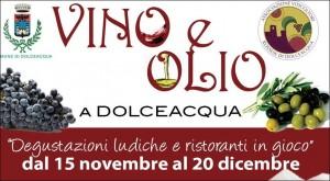 Veranstaltung in Dolceacqua Vino e Olio vom 14. November bis 20. Dezember 2013. Ferien an der Blumenriviera in Ligurien