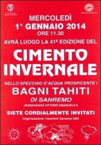 San Remo. Neujahrsbaden. Urlaub an der italienischen Riviera in Ligurien