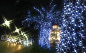 Nizza. Weihnachten im Lichterglanz