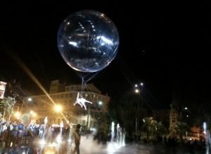 Nizza. 1. Geburtstag der Promenade du Paillon. Urlaub an der italienischen Riviera in Ligurien