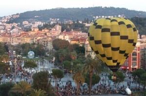 Nizza. Côte d'Azur.Feier zum 1. Jahrestag der Promenade du Paillon