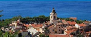 Bordighera an der italienischen Riviera in Ligurien