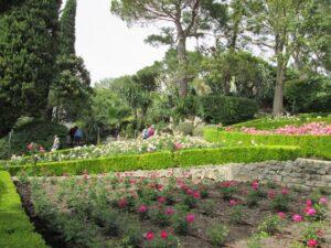 Villa Ephrussi de Rothschild. Der Rosengarten. Saint Jean Cap Ferrat an der Côte d'Azur