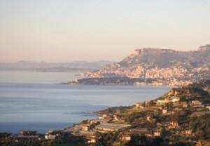 Ferienwohnung in Ventimiglia mit Blick auf Monte Carlo