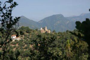 Aussicht vom Ferienhaus in Dolceacqua an der italienischen Riviera