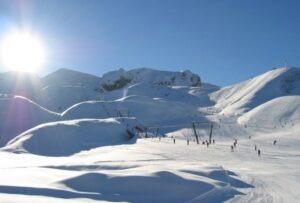 Skifahren in den Seealpen