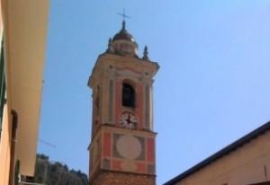 Airole. Kirchturm