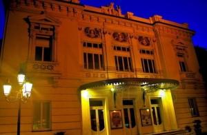 Ventimiglia an der italienischen Riviera. Das Stadttheater