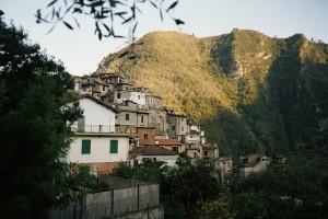 Airole Dorf im Hinterland der italienischen Riviera