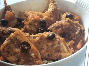 Kaninchen auf ligurische Art. Ein Klassiker der ligurischen Küche