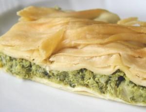 Die ligurische Torta Verde. Eine Spezialität der Region