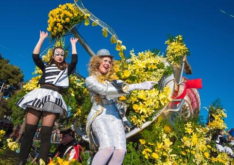 Bataille des Fleurs in Nizza an der französischen Riviera