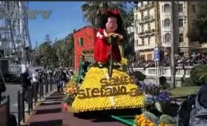Santo Stefano al Mare gewinnt beim Blumenkorso in San Remo