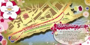 Blumenkorso in San Remo. Die Fahrradroute zum Thema
