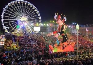 Nizza an der Côte d'Azur. Karneval
