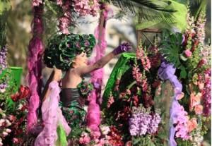 Blumenschlacht in Nizza an der Côte d'Azur