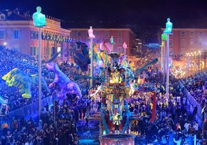 Karneval in Nizza an der Côte d'Azur