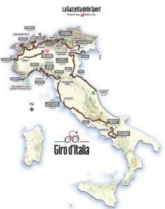 Karte vom 98. Giro d'Italia