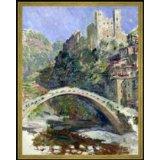 Claude Monet die Brücke von Dolceacqua