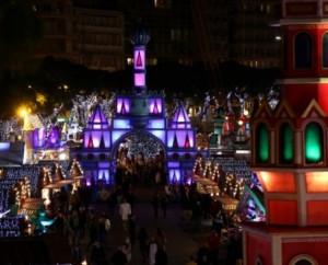 Russische Weihnachten im Weihnachtsdorf von Monaco