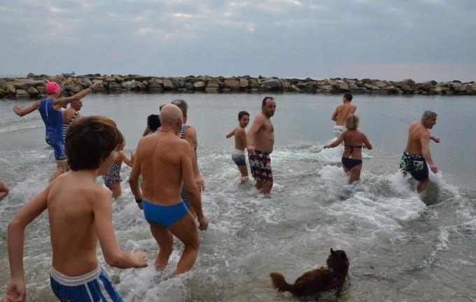 43. Neujahrsbaden in San Remo an der Blumenriviera