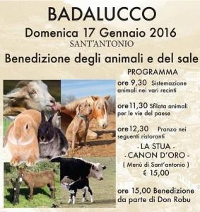 Badalucco Segnung der Tiere am Sant'Antonio