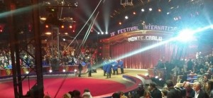 Monte Carlo an der Côte d'Azur. Internationales Zirkusfestival