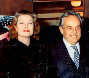 Prinzessin Gracia Patrizia und Fürst Rainier 1974 beim 1. Internationalen Zirkusfestival