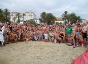 San Remo an der italienischen Riviera Neujahrsbaden