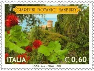 Ventimiglia.Briefmarke Giardini Botanici Hanbury.