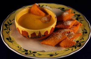 im Restaurant La Favorita in Apricale wird die Zabaione mit Panserole serviert