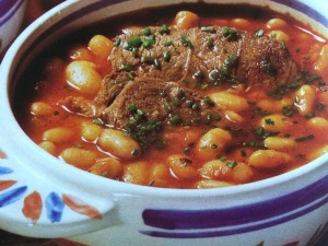 Fagioli con capra- Bohnen mit Ziegenfleisch