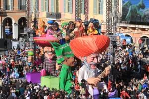 Nizza an der Côte d'Azur feiert Karneval