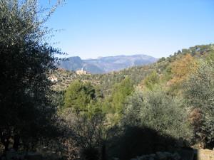 Blick vom Ferienhaus in Ligurien