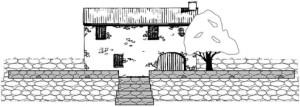 der Plan von der mediterranen Terrasse