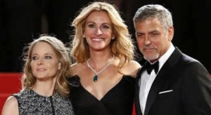 Jody Foster Julia Roberts und Ceorge Clooney imit dem Film Money Monster