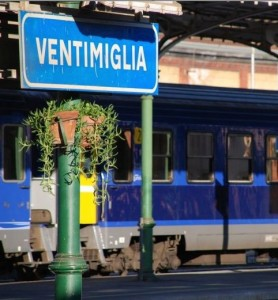 Am Bahnhof von Ventimiglia