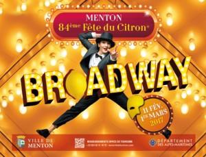 Menton Zitronenfest 2017 mit dem Thema Broadway