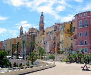 Menton an der franzoesischen Riviera