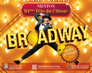 Zitronenfest in Menton Thema Broadway