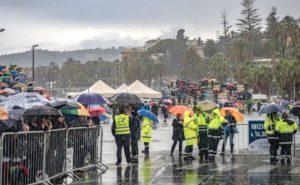 Trotz Dauerregen viele Zuschauer