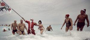 das traditionelle Weihnachtsbaden