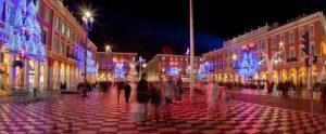 festliche Beleuchtung in Nizza