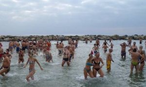 Neujahrsbaden in Sanremo
