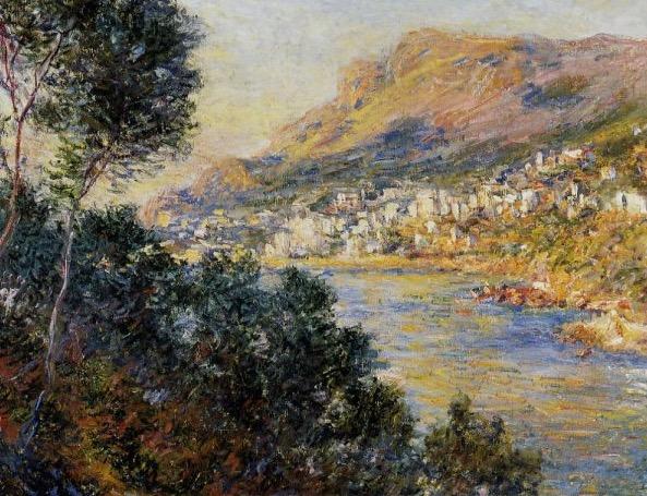 Claude Monet. Blick von Roquebrune auf Monte Carlo